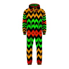 Rhombus And Other Shapes Pattern             Hooded Jumpsuit (kids)