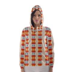 Triangles Tribal Pattern              Hooded Wind Breaker (women)