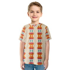 Triangles Tribal Pattern              Kid s Sport Mesh Tee