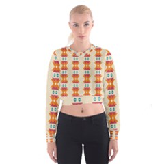 Triangles tribal pattern                Women s Cropped Sweatshirt