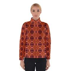 Peach Purple Abstract Moroccan Lattice Quilt Winterwear