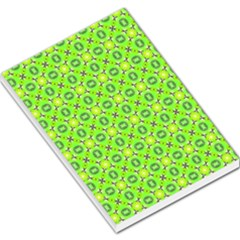 Vibrant Abstract Tropical Lime Foliage Lattice Large Memo Pads