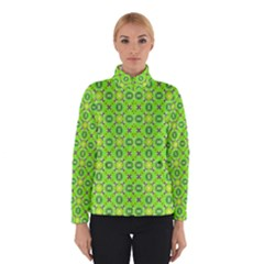 Vibrant Abstract Tropical Lime Foliage Lattice Winterwear