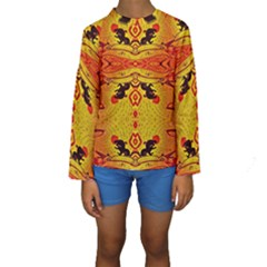 Green Sun Kid s Long Sleeve Swimwear