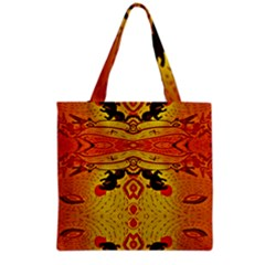 Green Sun Grocery Tote Bag