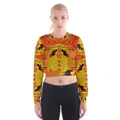 GREEN SUN Women s Cropped Sweatshirt