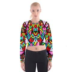 Sun Dial Women s Cropped Sweatshirt