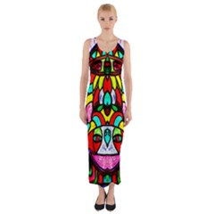 Sun Dial Fitted Maxi Dress