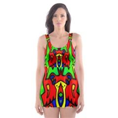 Heads Up Skater Dress Swimsuit