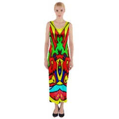 Heads Up Fitted Maxi Dress