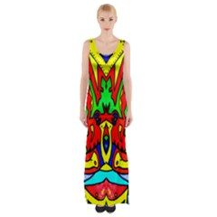 Heads Up Maxi Thigh Split Dress