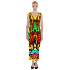AUCTION Fitted Maxi Dress