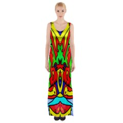 Auction Maxi Thigh Split Dress