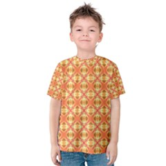 Peach Pineapple Abstract Circles Arches Kid s Cotton Tee