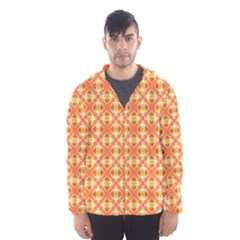 Peach Pineapple Abstract Circles Arches Hooded Wind Breaker (men)