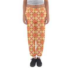 Peach Pineapple Abstract Circles Arches Women s Jogger Sweatpants