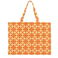 Peach Pineapple Abstract Circles Arches Large Tote Bag