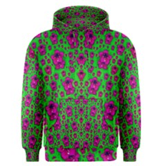 Fantasy Valentine In Floral Love And Peace Time Men s Pullover Hoodie