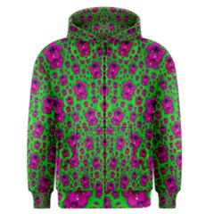 Fantasy Valentine In Floral Love And Peace Time Men s Zipper Hoodie
