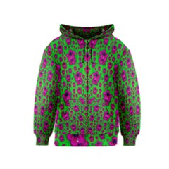 Fantasy Valentine In Floral Love And Peace Time Kids  Zipper Hoodie