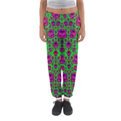 Fantasy Valentine In Floral Love And Peace Time Women s Jogger Sweatpants