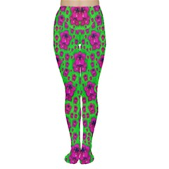Fantasy Valentine In Floral Love And Peace Time Women s Tights