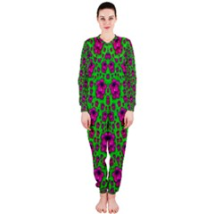 Fantasy Valentine In Floral Love And Peace Time OnePiece Jumpsuit (Ladies)