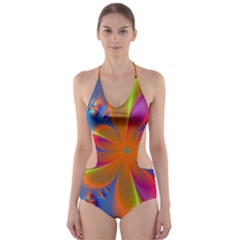 Bright Cut-Out One Piece Swimsuit