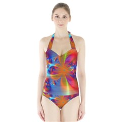 Bright Women s Halter One Piece Swimsuit