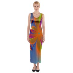 Bright Fitted Maxi Dress
