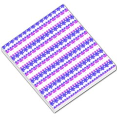 Floral Stripes Pattern Small Memo Pads