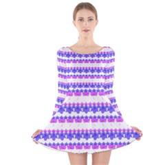 Floral Stripes Pattern Print Long Sleeve Velvet Skater Dress