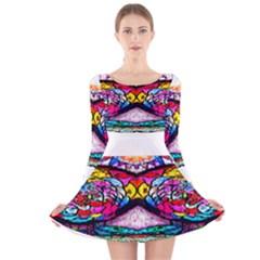 Bestiiik Long Sleeve Velvet Skater Dress