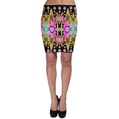 Flowers Above And Under The Peaceful Sky Bodycon Skirts