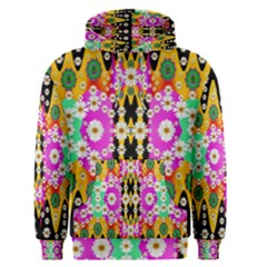Flowers Above And Under The Peaceful Sky Men s Pullover Hoodie