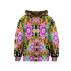 Flowers Above And Under The Peaceful Sky Kids  Pullover Hoodie