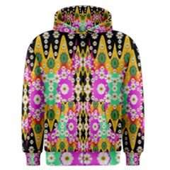 Flowers Above And Under The Peaceful Sky Men s Zipper Hoodie