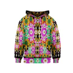 Flowers Above And Under The Peaceful Sky Kids  Zipper Hoodie