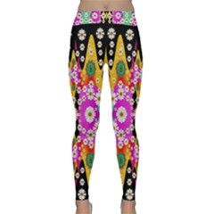 Flowers Above And Under The Peaceful Sky Yoga Leggings