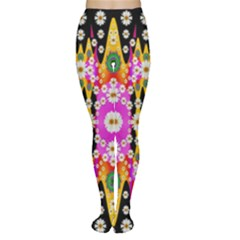 Flowers Above And Under The Peaceful Sky Women s Tights