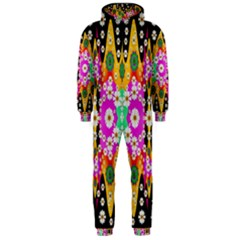 Flowers Above And Under The Peaceful Sky Hooded Jumpsuit (Men)