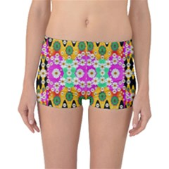 Flowers Above And Under The Peaceful Sky Boyleg Bikini Bottoms
