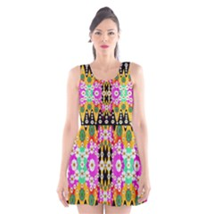 Flowers Above And Under The Peaceful Sky Scoop Neck Skater Dress