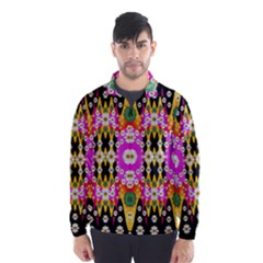 Flowers Above And Under The Peaceful Sky Wind Breaker (Men)