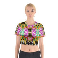 Flowers Above And Under The Peaceful Sky Cotton Crop Top