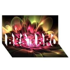 Red Peony Best Bro 3d Greeting Card (8x4)