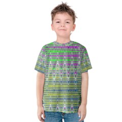 Colorful Zigzag Pattern Kid s Cotton Tee