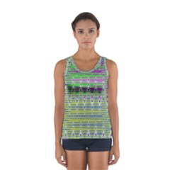 Colorful Zigzag Pattern Tops