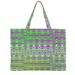 Colorful Zigzag Pattern Large Tote Bag