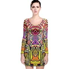 Last Of Long Sleeve Velvet Bodycon Dress